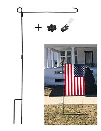 - SPORT BEATS Garden Flag Stand Pole Holder with Garden Flag Stopper and Anti-Wind Clip 36.6