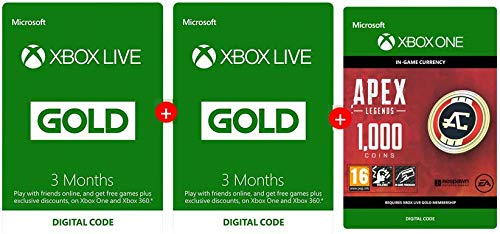 Xbox Live 3 Month Gold Membership + 3 Months + Apex 1000 Coins FREE | Xbox One/360 - Download Code