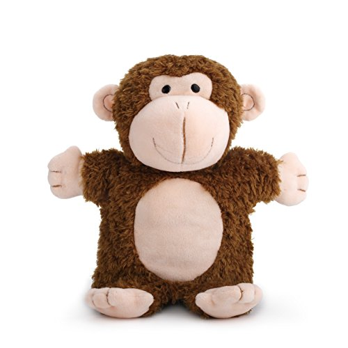 DEMDACO Mingus Monkey Puppet Chestnut Brown and Peach Children