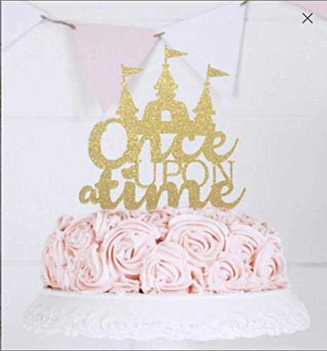 Once Upon a Time Cake Topper, Fairy Tale Wedding Theme, First Birthday Party, Princess Castle Cake Topper, Cake Topper Wedding, Table Décor