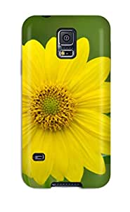 Tpu KevinW Shockproof Scratcheproof Yellow Flowers Hard Case Cover For Galaxy S5