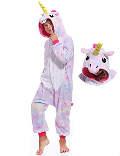 Kids Onesies Unicorn Pajamas Unisex One Piece Cosplay Halloween Christmas Costume for Boys -