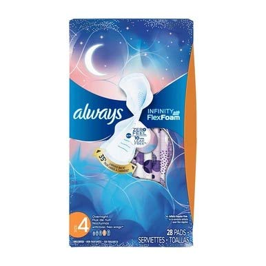 Always Infinity Pads with Wings - Overnight - 28 ct
