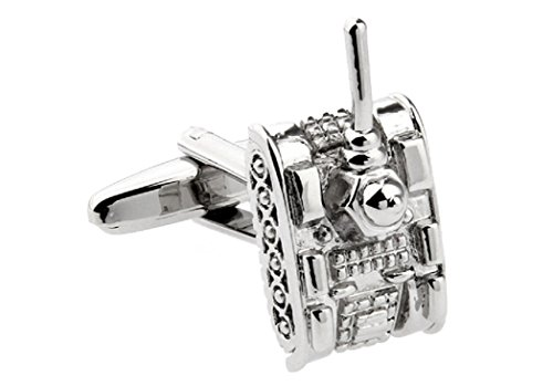 (MRCUFF Tank Pair Cufflinks in a Presentation Gift Box & Polishing Cloth)