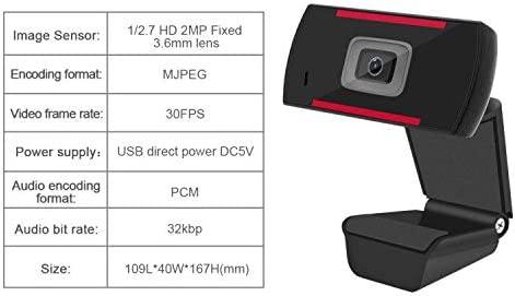 HD 1080p Webcam Built in Microphone Desktop Computer Laptop USB Web Camera for Streaming,Video Calling Recording,Chatting Webinars Gaming Distance Learning /…