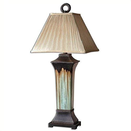 Uttermost 26270 37-Inch Tall Olinda Table Lamp, Green, Metalic Brown