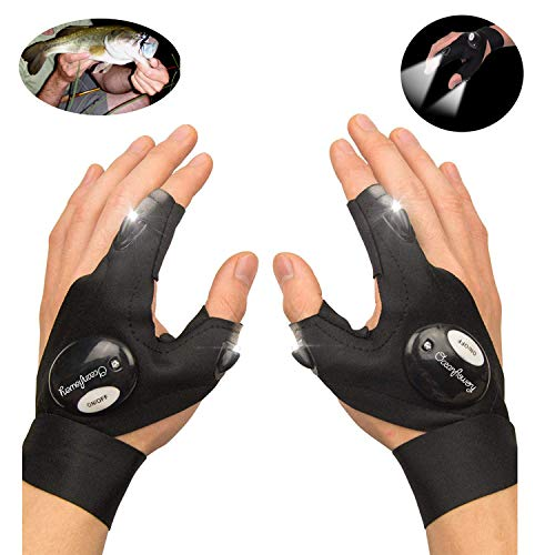 Used, FloweryOcean Fingerless LED Flashlight Gloves, Flashlight for sale  Delivered anywhere in USA