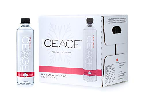 Ice Age Glacial Water, Ph 9.5 Alkaline, Pack of 12 (16.9 Ounce)