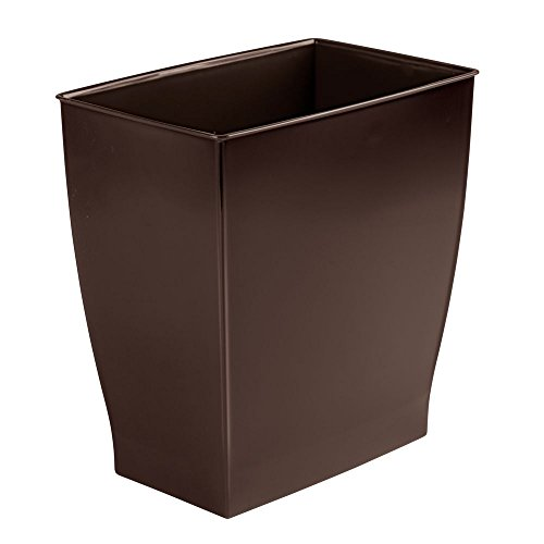 InterDesign Mono Rectangular Wastebasket Trash Can for Bathr