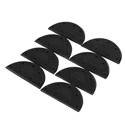 uxcell Rubber Heel Taps for Shoes Boots Sole Heel Guard Taps Repair Pads 8pcs Black