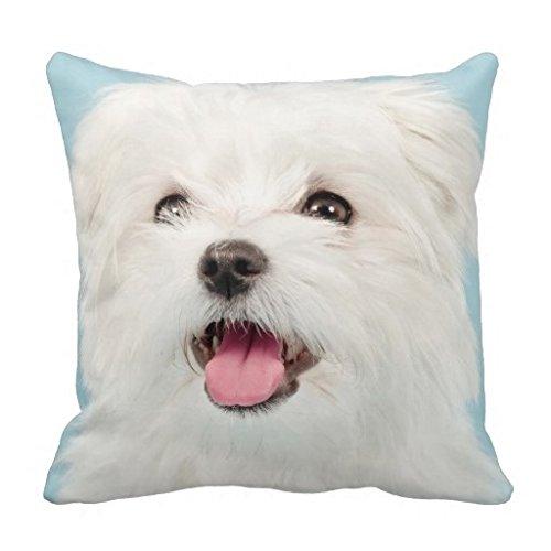 Vincent Vivi Home Pillow Cases Maltese Puppy Pillow Case