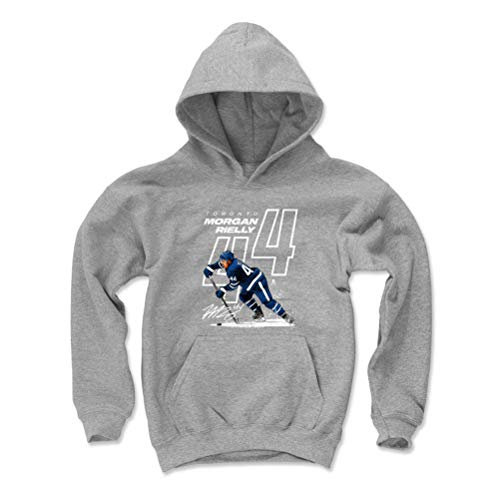 500 LEVEL Morgan Rielly Toronto Maple Leafs Youth Sweatshirt (Kids Small, Gray) - Morgan Rielly Offset W WHT