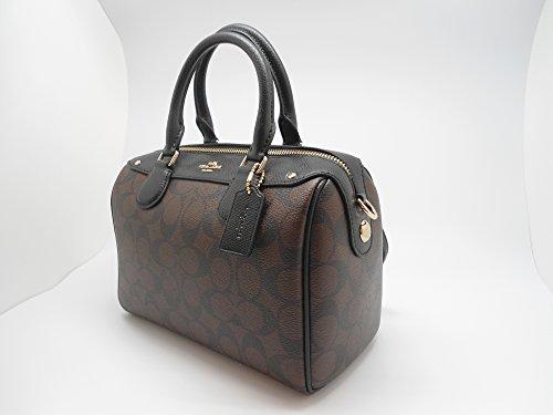70452696dd5f Coach Signature Mini Bennet Satchel - Brown Black - Import It All