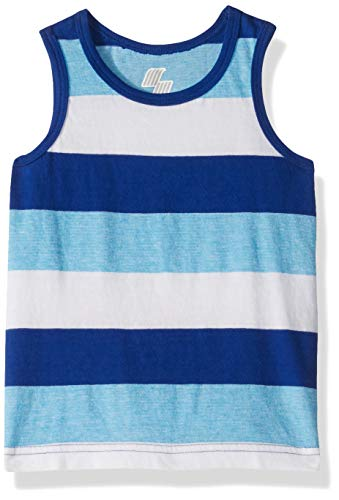 Edge Striped - The Children's Place Baby Boys Striped Jersey Tank Tops, Edge Blue, 5T