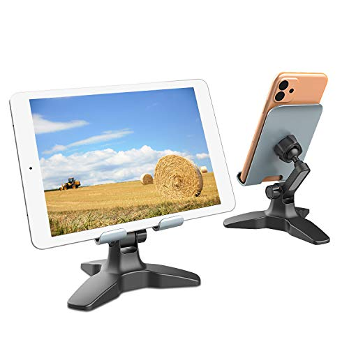 Adjustable Cell Phone Stand for Desk, 180° Phone Dock Cradle, Tablet Stand Holder, Phone Mount Compatible with iPhone…