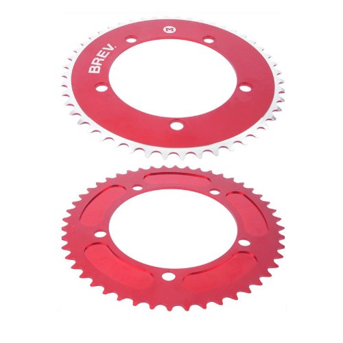 Brev.M Messenger Fixed-gear Bicycle Chainring 130BCD (Red, 44t) (Bike Urban Messenger)