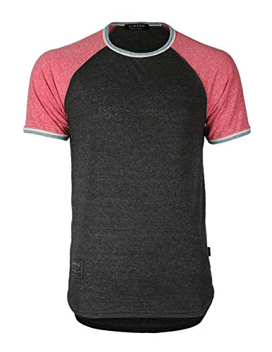 Contrast Ringer - ZIMEGO Men's Classic Raglan T-Shirt Contrast Short Sleeve Baseball Hipster Ringer (XX-Large, Black Fulfilled
