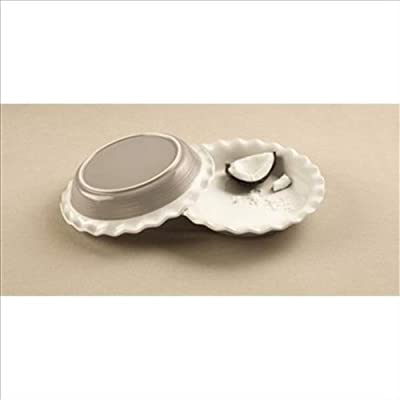 "Corningware Pie Plate 9.5"" Etch Sand"