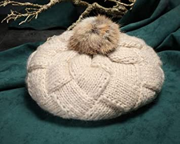51eb69747466d3 MAGA 1 Women Autumn Winter Hats Caps Fashion Knitted Beret with Rex Fur  Ball Beanies Fashion