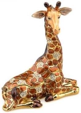 Hidden Treasures Giraffe Trinket Box Amazon Co Uk Kitchen Home