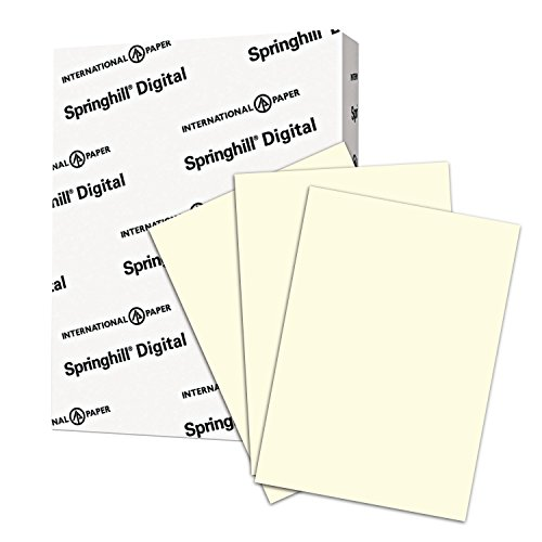 Springhill Colored Paper, Heavy Paper, Cream Paper, 24/60lb, 89gsm, Legal, 8.5 x 14, 1 Ream / 500 Sheets - Opaque, Thick Paper (024032R)