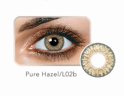 Colored Bright Eyes Multi-Color Contact Lenses Eyes Cute Colored Charm and Attractive Blends Cosmetic Makeup Eye Shadow W/Case (Same Day Fast Free Shipping) (Pure Hazel) ()