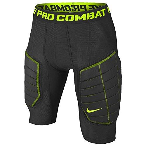 (Nike Pro Combat Hyperstrong Elite Men's Compression Basketball Shorts, Black/Volt, 3XL)