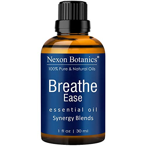 Breathe Essential Oil Blend 30 ml - Pure, Natural Breathe Easy from Eucalyptus, Peppermint, Rosemary and Niaouli - Helps Relief Sinus, Colds, Allergy, Flu, Cough and Congestion from Nexon Botanics (1)