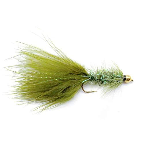 3-pack Streamers Fly Fishing Trout Streamers Crystal Bugger Bead Head Streamer