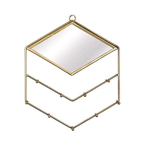 Maia Gifts Gold Diamond Jewellery Holder with Mirror
