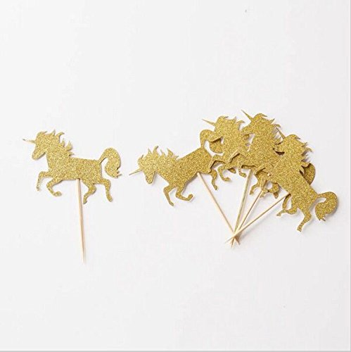 Astra Gourmet 25 Pack Gold Glitter Unicorn Cupcake