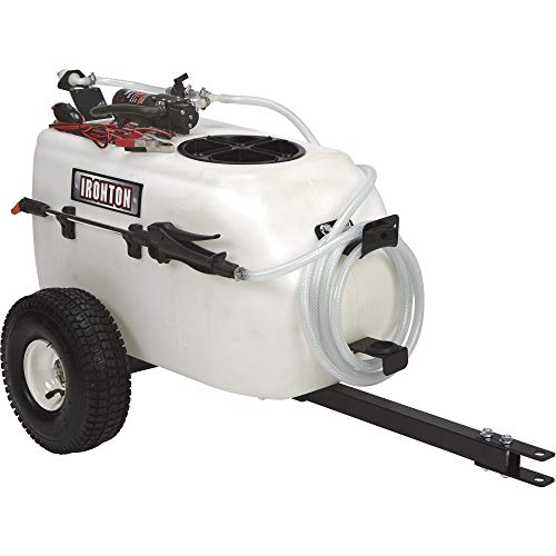 Ironton Tow-Behind Trailer Broadcast and Spot Sprayer - 13-Gallon Capacity, 1 GPM, 12 Volt DC