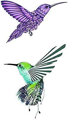 wyuen 5 pcs colibrí mujeres cuerpo temporal tatuajes niños tatuaje ...