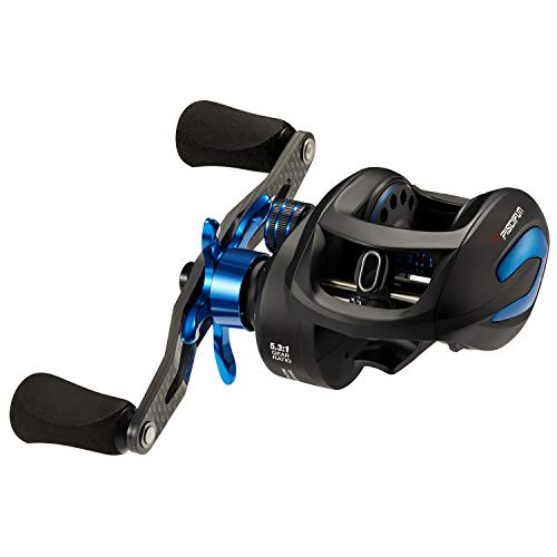 Piscifun Phantom X Baitcasting Fishing Reels, Right Handed 5.3:1 Gear Ratio, 18lb Carbon Drag, Carbon Reel Handle, Centrifugal Brake Low Profile Baitcaster Fishing Reels