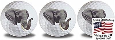 GBM Golf Wild Animal Elephant Golf Balls 3 Pack