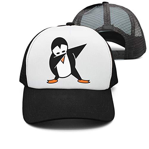 Quenei Miex Women's Men's Adjustable Baseball Cap mesh Snapback Funny Dabbing Penguin Trucker Hat by Quenei Miex