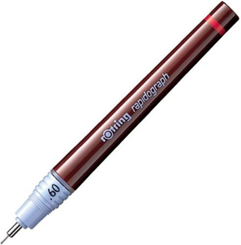 Rotring Rapidograph Pen - 0.6 mm - Black Ink