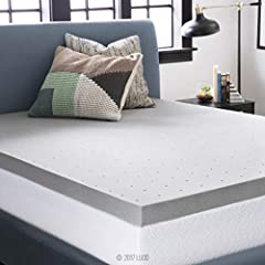 The LUCID 3 Inch Bamboo Charcoal Memory Foam Mattress Topper brings you the benefits of memory foam pressure point relief combined with the odor and moisture control of bamboo charcoal. Bamboo charcoal has many great qualities: it eliminates ...
