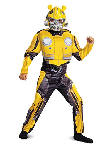 Bee Child Costumes - Disguise Bumblebee Classic Muscle Child Costume, Yellow,