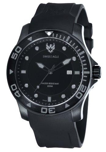 Swiss Eagle Men's SE 9002-05 Sea Bridge Black Grey Watch