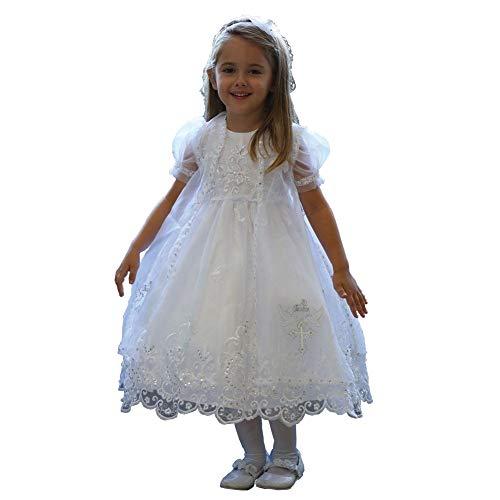 Angels Garment White Organza Overlay Baptism Dress Girls 4T from Angels Garment