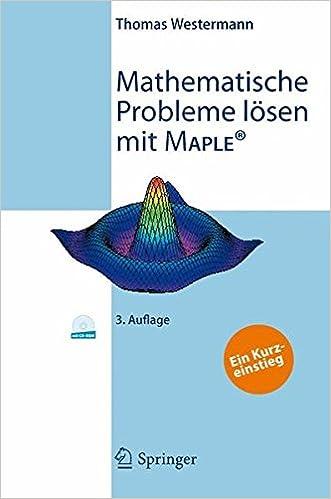 mathematische probleme lsen mit maple westermann thomas