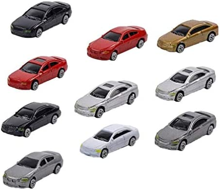 Perfeclan 約10個 1/87スケール モデルカー ミニ自動車 HOゲージ 建築模型 駐車場 都市風景 DIY 装飾