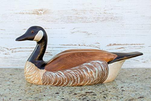 Hand Carved Canadian Goose Premier Wooden Decorative Decoy ()