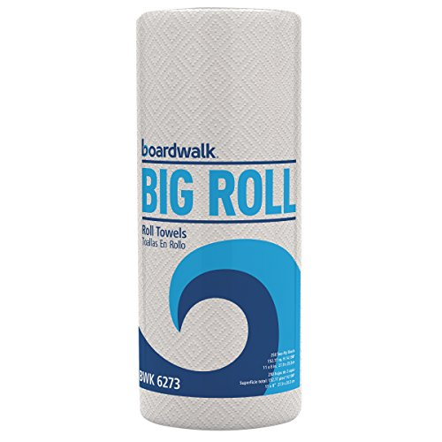 Boardwalk 6273 Perforated Paper Towel Roll, 2-Ply, White, 11 x 8 1/2, 250 Sheets Per Roll (Case of 12 Rolls) (Perforated White Paper Towel)