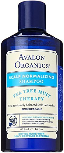 Avalon Organics Shampoo, Tea Tree Mint Treatment, 14-Ounces (Pack of 3) by Avalon ()