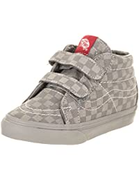 Unisex Kids Old Skool V Skate Shoes, Classic Style with Hook and Loop Closure, Padded Collars for Comfort and Support