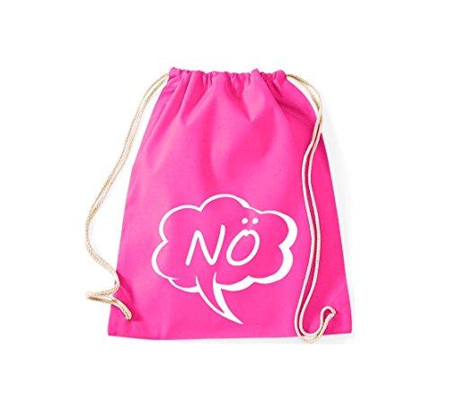 Shirtstown - Bolso de tela de algodón para mujer rosa