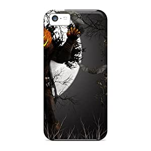 Durable Pumpkin Monster Halloween Back Cases/covers For Iphone 5c