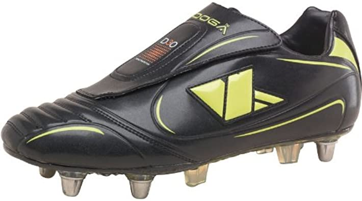 Mens Kooga Stealth Lcst Studded Rugby Boots Black Lime Guys Gents 6 Uk 6 Eur 40 Amazon Co Uk Shoes Bags